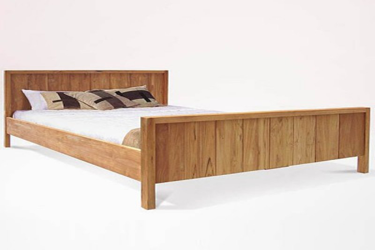 Reclaimed teak bed plank kalijati furniture jepara for Furniture jepara