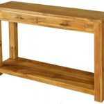 Teak Console Table 2 Drawers