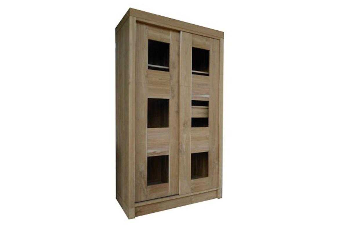 Teak Cabinet Sliding Door Kalijati Furniture Jepara