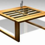 Teak Coffee Table With Glass