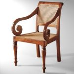 Teak Rattan Arm chair