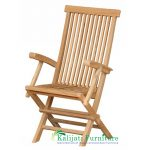 Classic Folding Arm Chair High Back