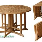 Round Gateleg Table ( 6 Leg )