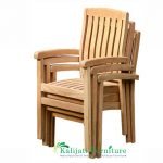 Marley Stacking Arm Chair Wide Slat